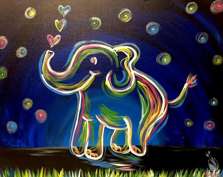 Neon Elephant Painting Party Gloucester County Nj 08028 Punchbugkids