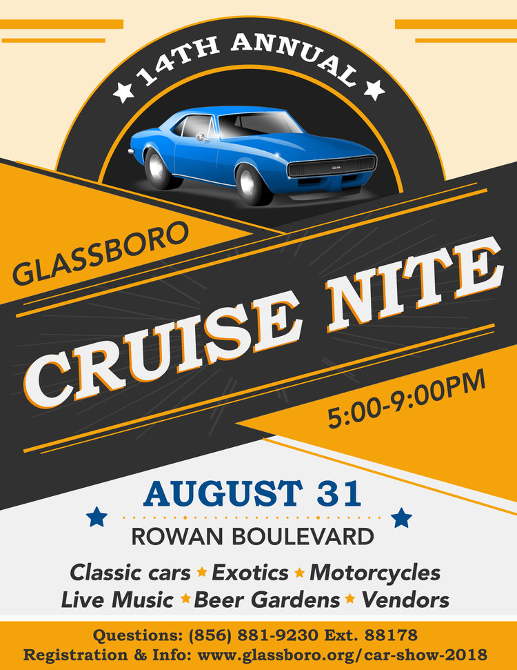 Glassboro Cruise Night Gloucester County NJ PunchBugKIDS - Car shows in nj